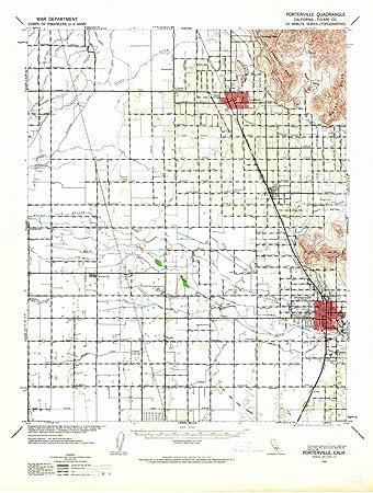 Amazon.com: 1942 Porterville, CA - USGS Historical ...