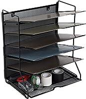 Klickpick Office Wall Mount Metal Mesh File Organizer Magazine Holder Organizer 5 Section Racks Multipurpose Use to...