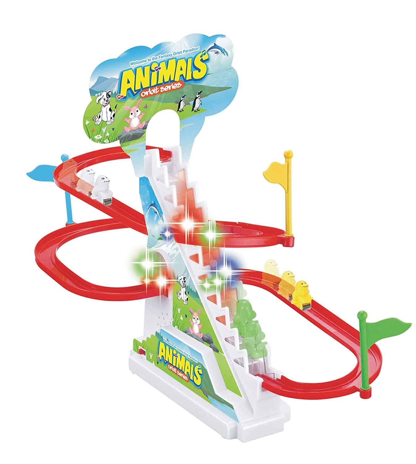 Happy Dolphin Race Track Set with Music and Lights
