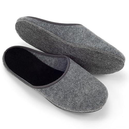 sports shoes 73b85 f2249 Filzpantoffeln Filzsohle Filzlatschen Hausschuhe aus Filz Unisex Herren  Damen Erwachsene in den Größen 36-51