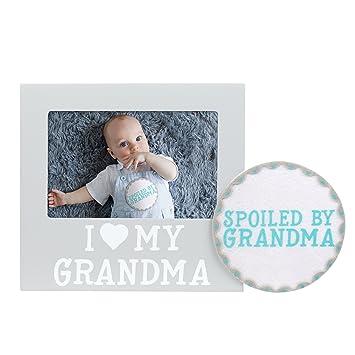 Amazon.com : Pearhead I Love Grandma Keepsake Photo Frame and Baby ...