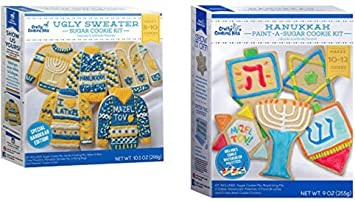 Amazoncom Hanukkah Ugly Sweater Sugar Cookie Kit And Paint A