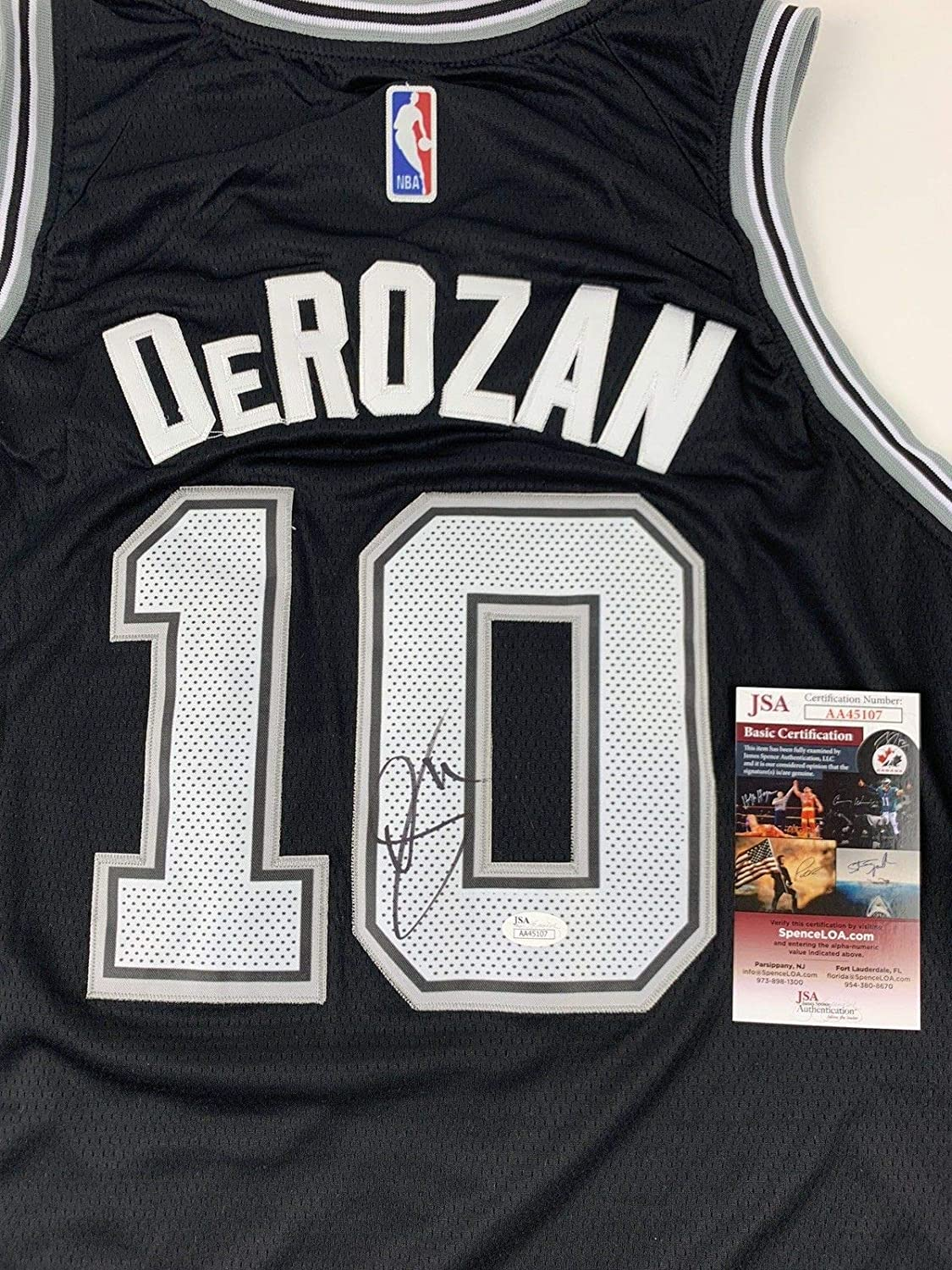 Demar Derozan Autographed Signed Jersey San Antonio Spurs Nike Memorabilia  JSA Authentication at Amazon s Sports Collectibles Store 377644a54