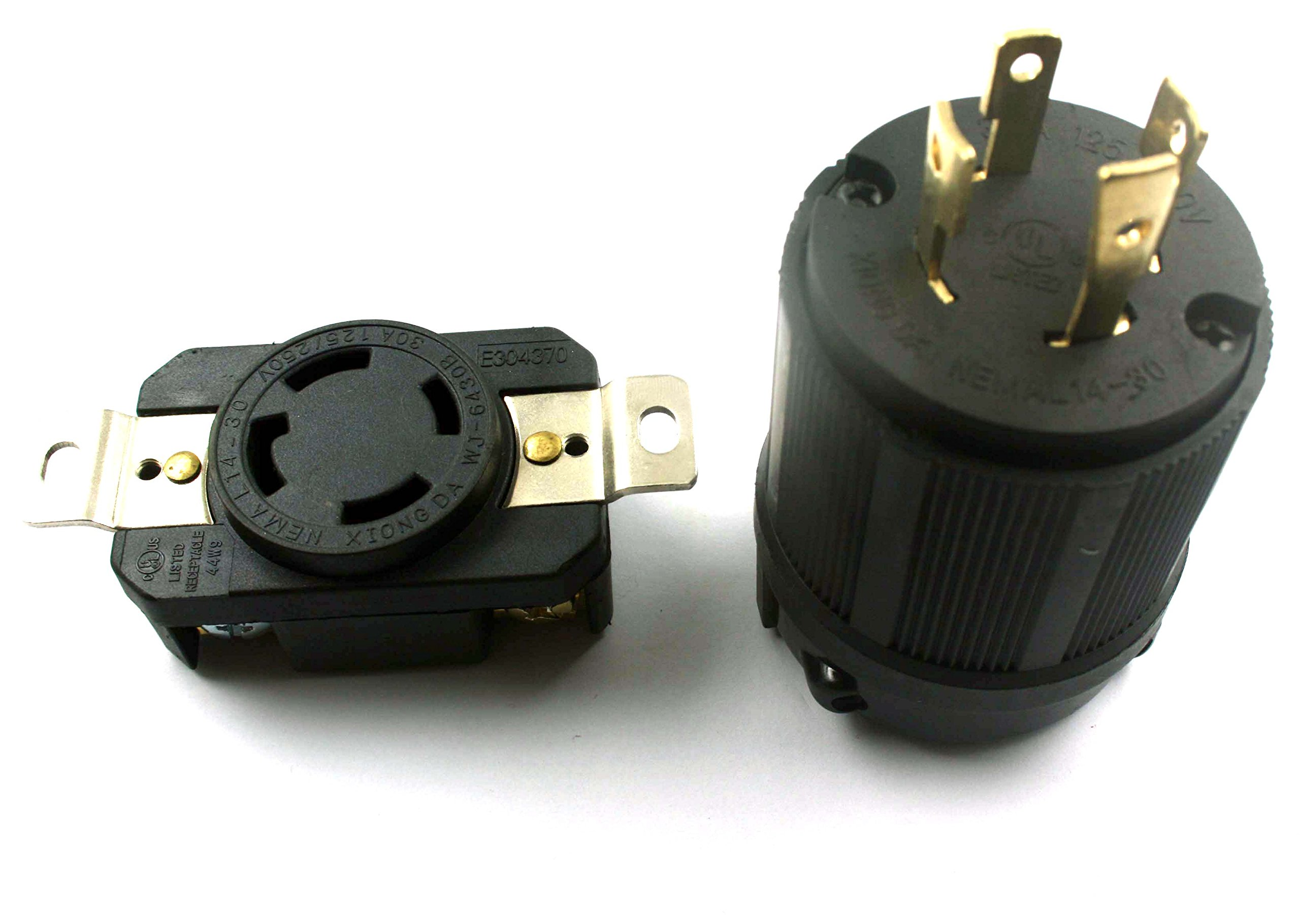XtremeAmazing GENERATOR RV AC PLUG & SOCKET L14-30 30 AMP 120V 220V MALE & FEMALE RECEPTACLE