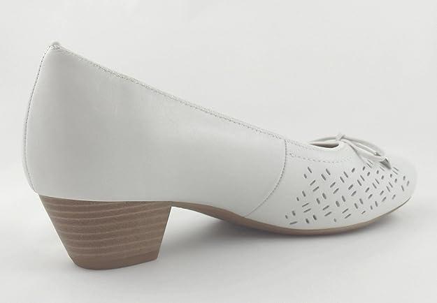 4f600afdfb09 ARA Damen Pumps BRÜGGE weiß Leder Weite K (42,5)  Amazon.de  Schuhe    Handtaschen
