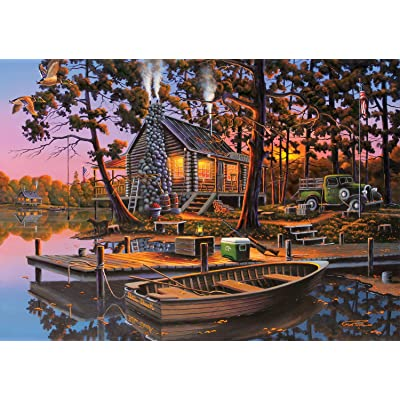 Buffalo Games - Americana Collection - Eugene's Hunting & Fishing - 500 Piece Jigsaw Puzzle: Toys & Games