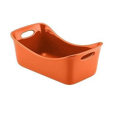 Rachael Ray Stoneware 9  x 5  Loaf Pan, Orange