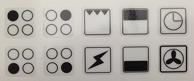 Cooker Oven Stove Range Hob Stickers Symbols Replacement Labels Knob
