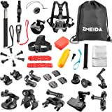 Zmeida Outdoor Sports Accessories Kit for GoPro Hero Black Silver 5/4/3+/3/2/1 SJ4000 SJ5000 SJ6000, Accessories for Action Video Cameras Xiaomi Yi/WiMiUS/Lightdow/DBPOWER
