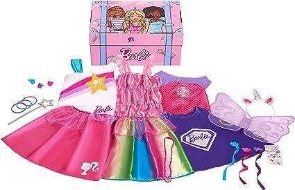Amazon Com Barbie 21 Piece Dress Up Trunk Amazon Exclusive Toys Games