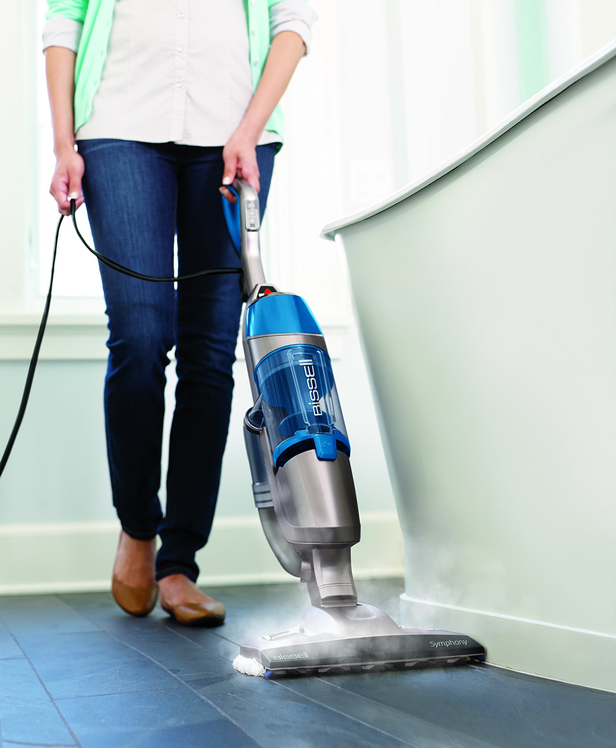 Bissell Symphony Steam Mop and Steam Vacuum for Hardwood and Tile Floors, 4 Mop Pads Included, 1132A by Bissell (Image #5)
