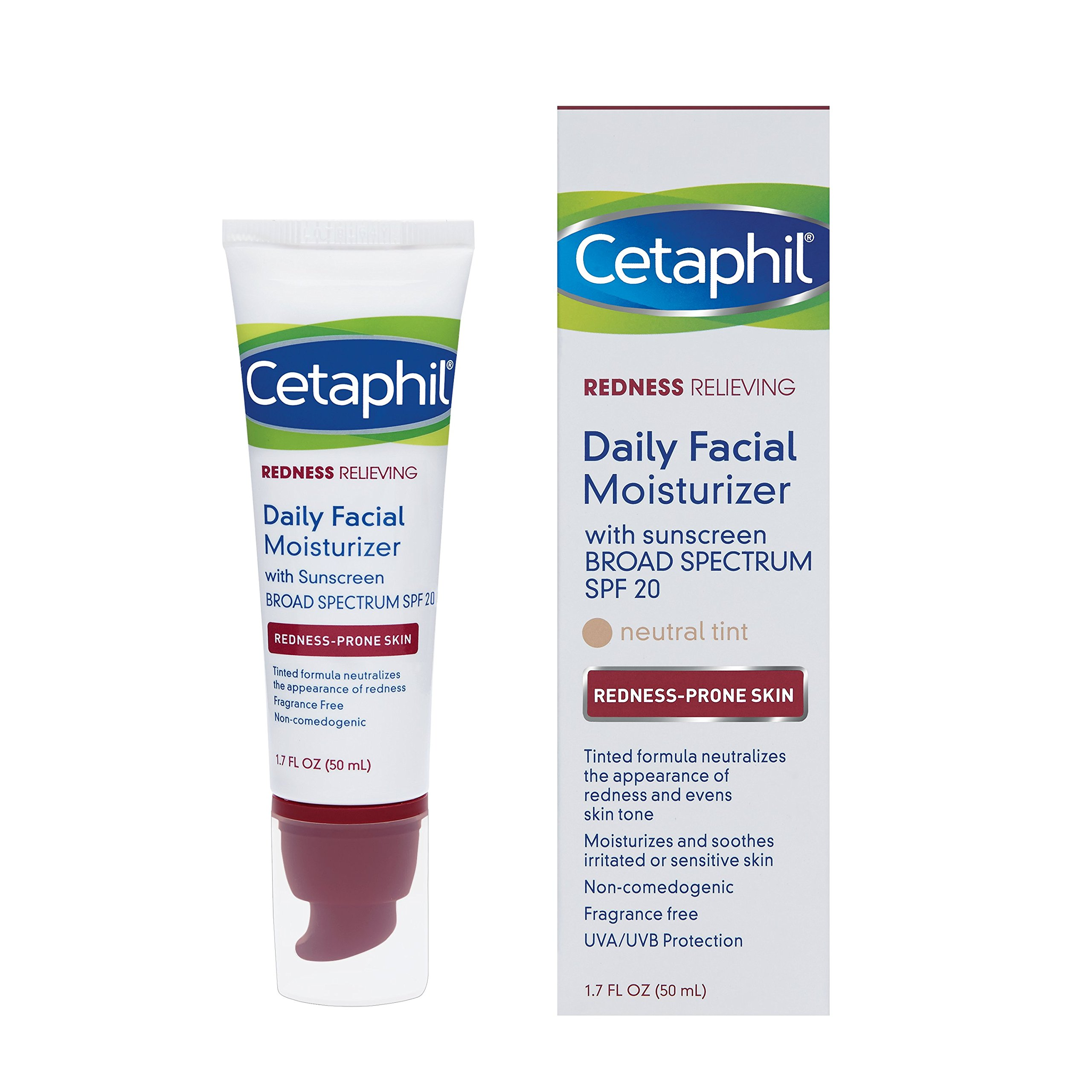 Cetaphil Redness Relieving Daily Facial Moisturizer SPF 20, 1.7 Ounce by Cetaphil