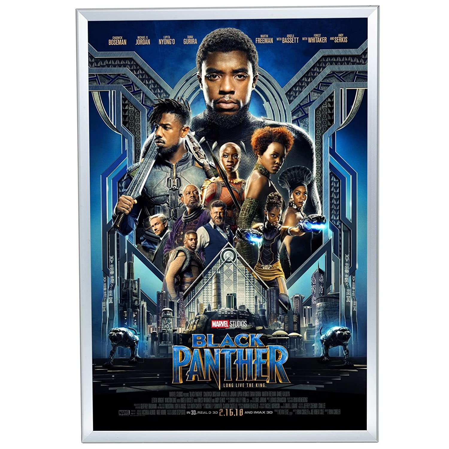 SnapeZo Movie Poster Frame 27x40 Inches, Cream 1.25 Aluminum Profile, Front-Loading Snap Frame, Wall Mounting, Professional Series for One Sheet Movie Posters SNAP-27-40-CM-32MM