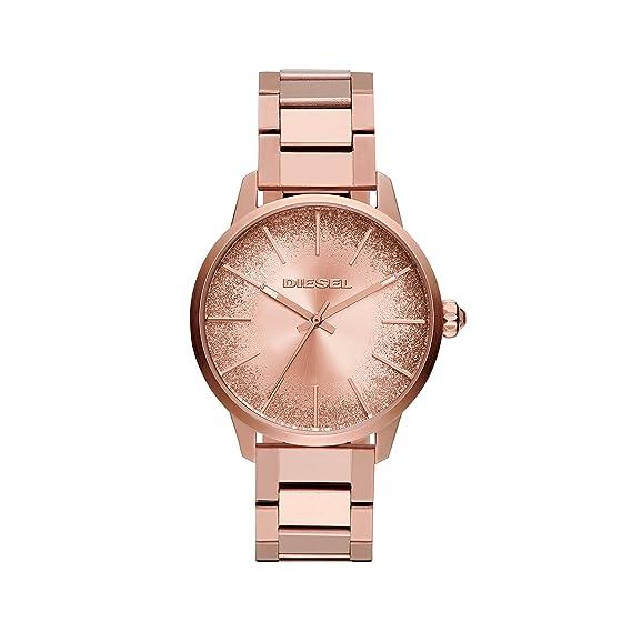 Diesel Reloj Analogico para Mujer de Cuarzo con Correa en Acero Inoxidable DZ5567: Amazon.es: Relojes