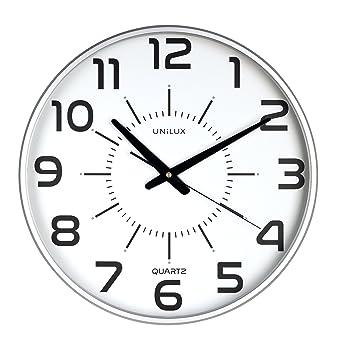 UNILUX 400094488 Große, Nicht Tickende Wanduhr MAXI POP In Grau Mit  Lautlosem Uhrwerk 37
