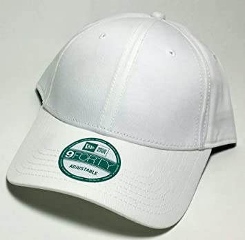 New Era 9Forty RARE Solid Plain Blank Cotton Adjustable White Hat Cap   Amazon.ca  Sports   Outdoors ef0dba71d10