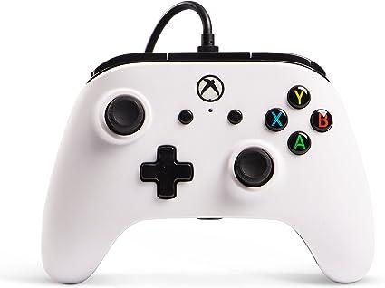 Mando Con Cable Mejorado, Color Blanco (Xbox One): Amazon.es ...