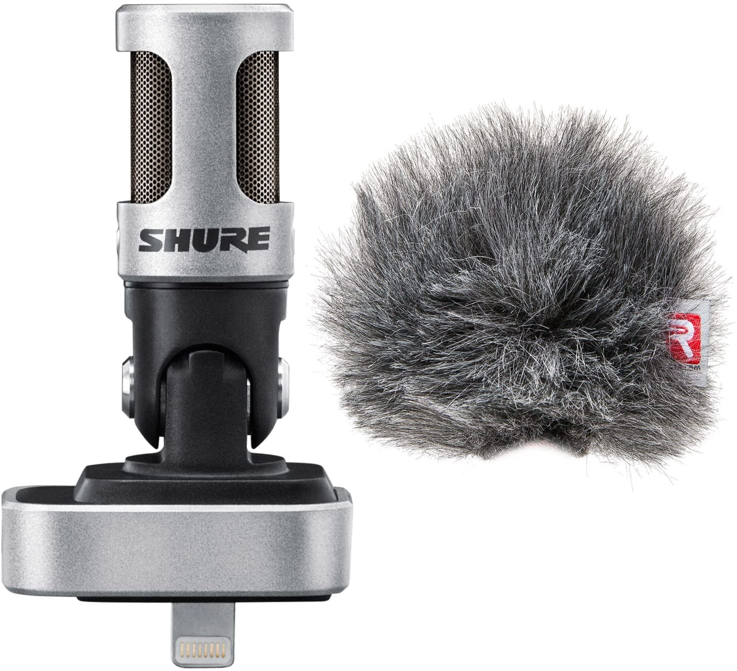 Shure MOTIV MV88 Digital Stereo Condenser Microphone for iOS Devices - With Shure Rycote Windjammer