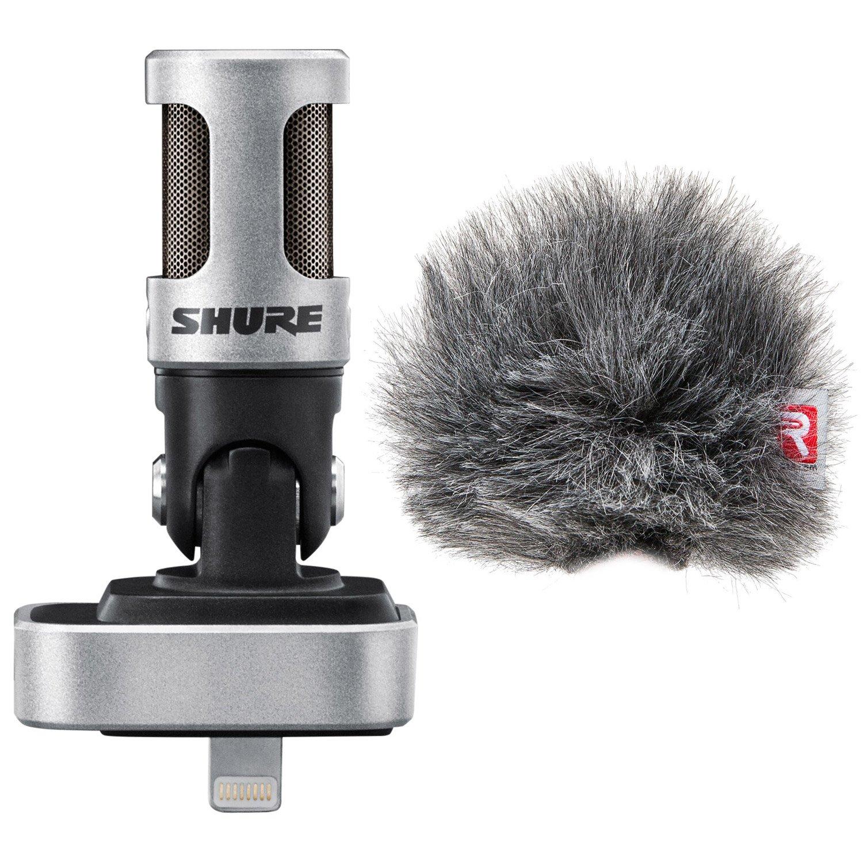 Shure MV88 iOS Digital Stereo Condenser Microphone w/ Rycote Windjammer Windscreen - Bundle