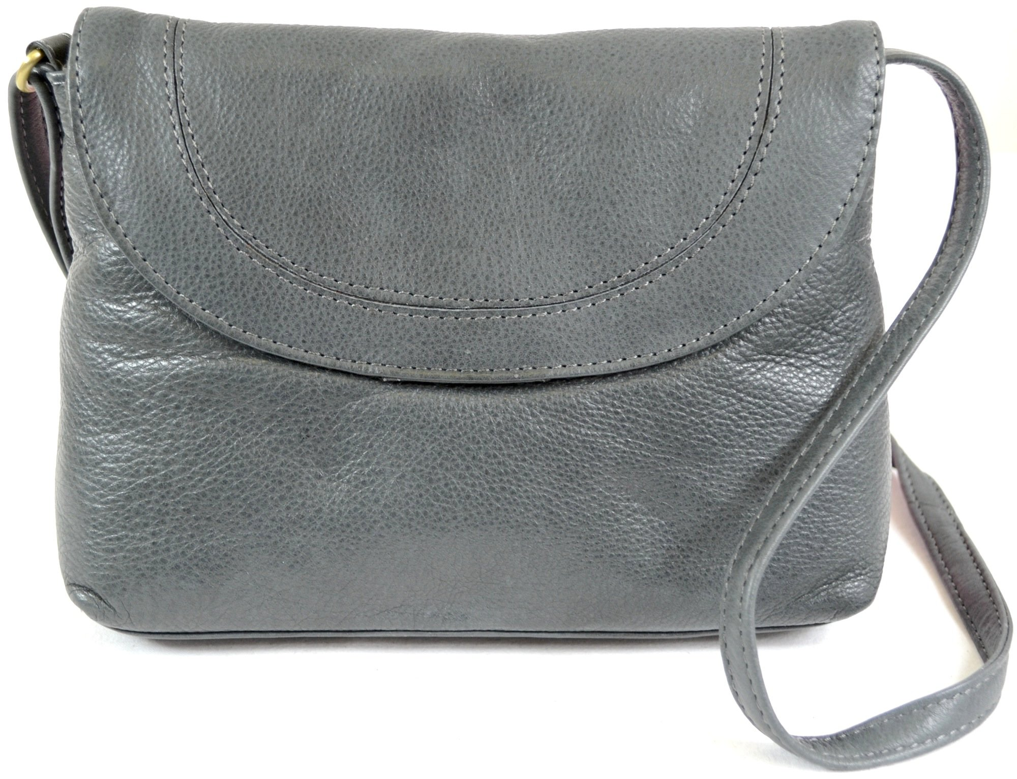 Ladies Soft Premium Leather Shoulder/Cross Body Bag (Charcoal) by SNUGRUGS (Image #1)