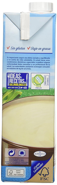 Gallina Blanca Caldo Casero de Pollo Bajo en Sal, 100% natural - 1 l: Amazon.es: Amazon Pantry