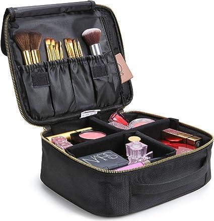 Lifewit Neceser Maquillaje 2 Pisos Bolso para Mujer Profesional Estuche Bolso de maquillaje Bolsa de Cosméticos Organizador Portátil Funda de Viaje para Cosméticos (Negro 16): Amazon.es: Belleza