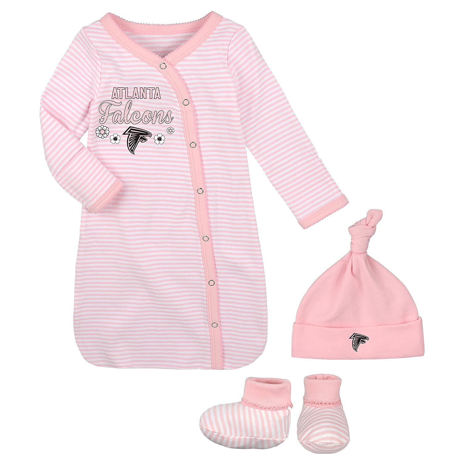 Amazon OuterStuff NFL Newborn Gown Hat & Bootie Set Atlanta