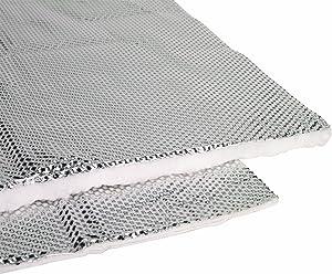 "Heatshield Products 170102 Heatshield Armor 1/4"" Thick x 1' Wide x 2' Long Exhaust Pipe Heat Shield,Silver/Aluminum"
