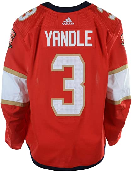 new style a8106 e939a Keith Yandle Florida Panthers Game-Used #3 Red Jersey from ...