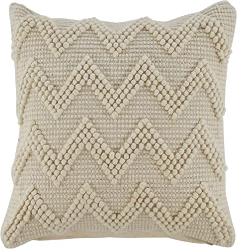 Signature Design by Ashley Amie Throw Pillow, Cream
