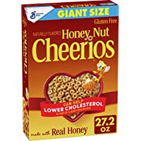 Honey Nut Cheerios, Gluten Free, Cereal with Oats, 27.2 oz Box