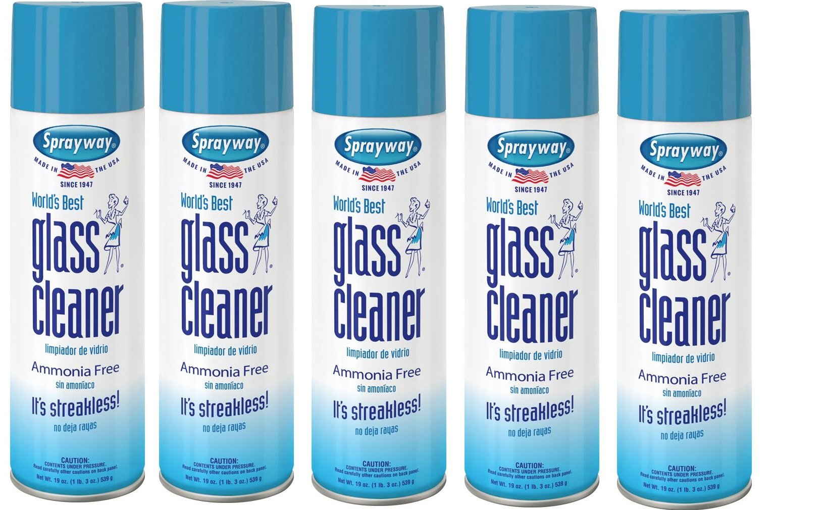Sprayway, Sprayway Glass Cleaner, 19 oz Cans, Pack of 5 by Sprayway