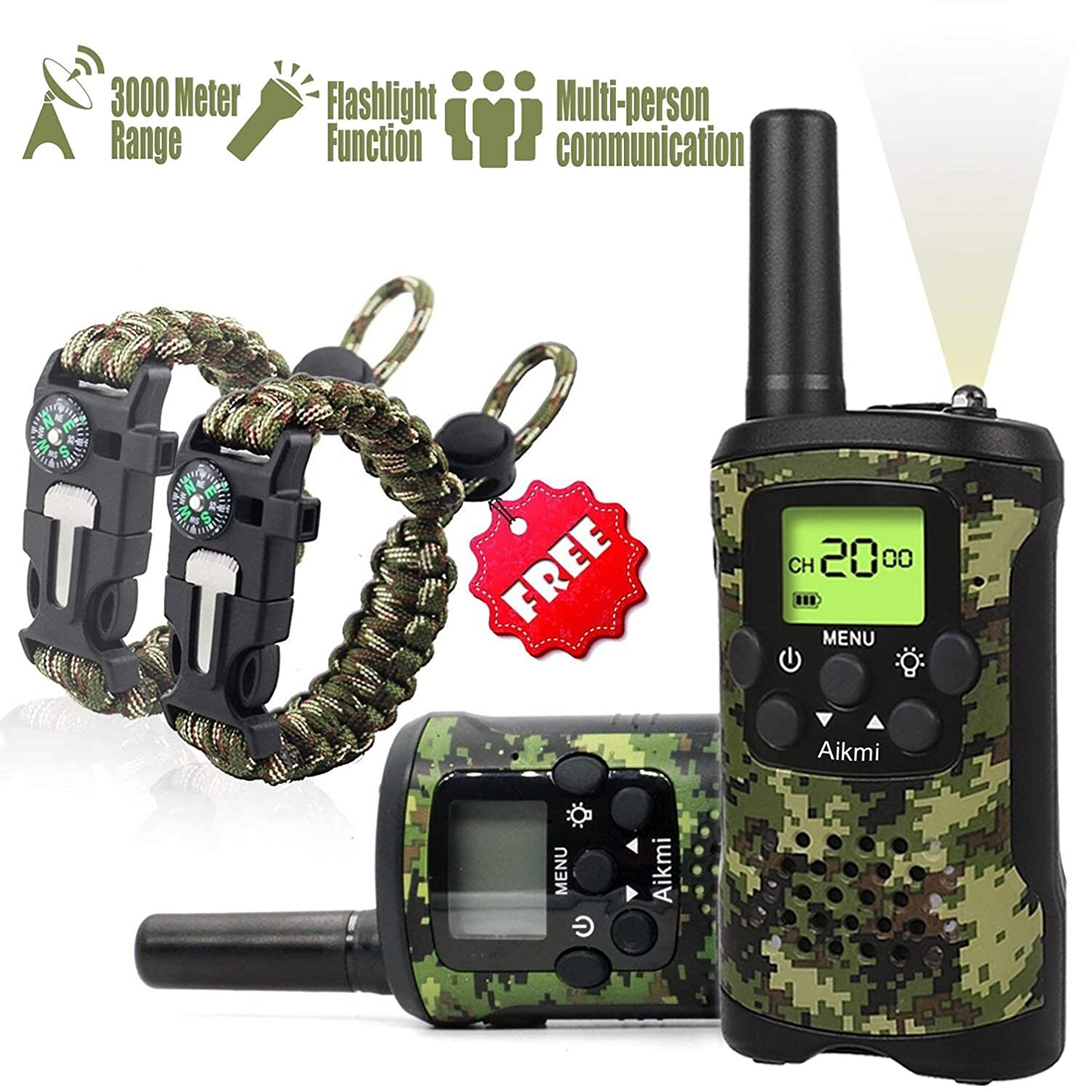 Aikmi kid's walkie-talkie set