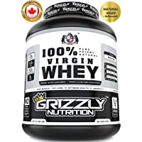 Grizzly Nutrition 100% Virgin Whey Protein With Digestive Enzymes & Pro Biotics - 2.21Lb-1Kg