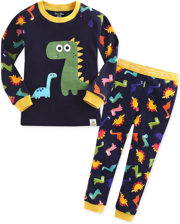 [Freeshipping] Vaenait baby 1 – 7 años 100% algodón pijama pijamas Set Buddy Dino