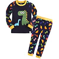 VAENAIT BABY Toddler Girls Boys Unisex Little Kids 100% Cotton Sung Fit Pajamas Sleepwear Pjs 2pcs Set
