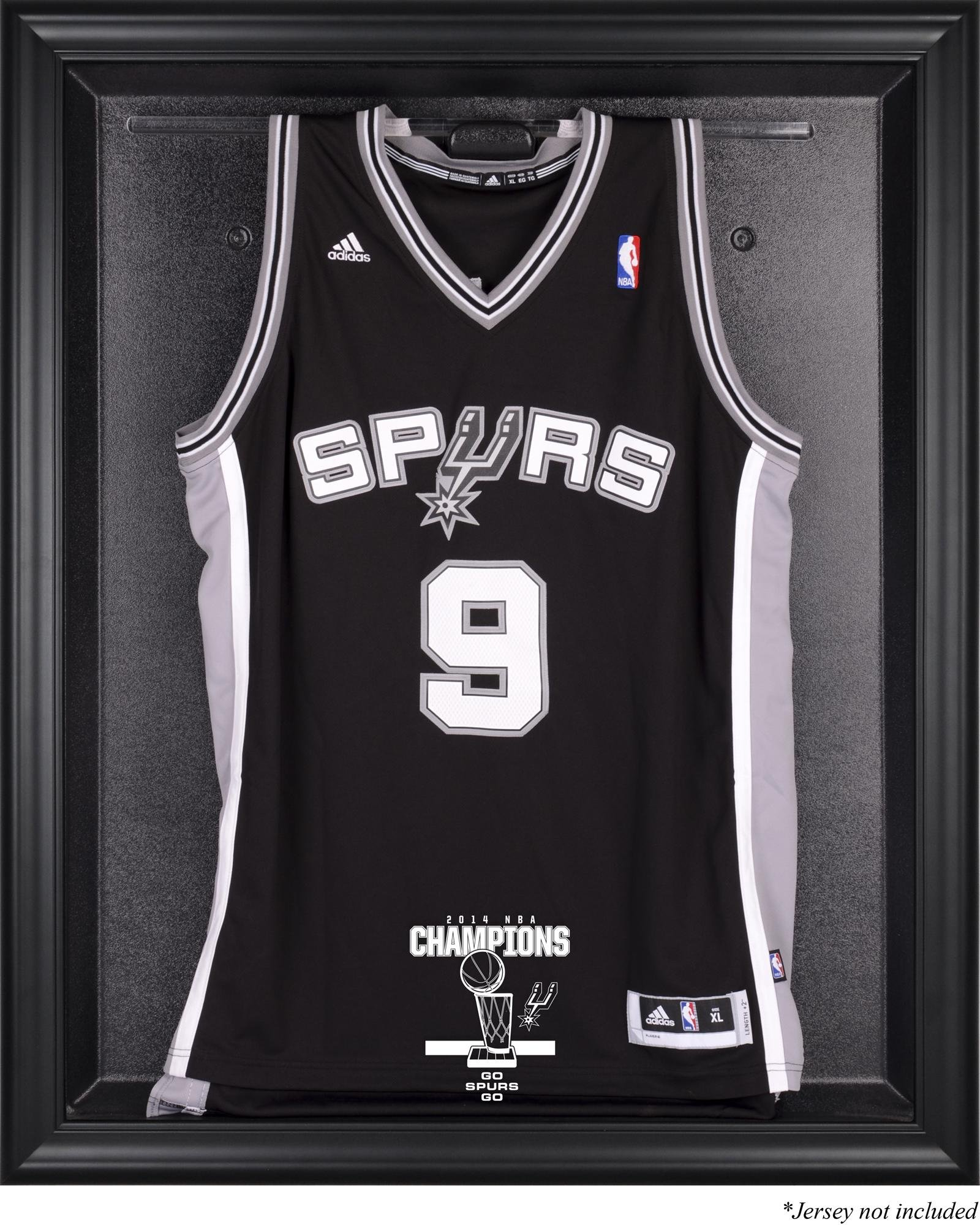 San Antonio Spurs 2014 NBA Champions Black Framed Logo Jersey Case - Fanatics Authentic Certified - Basketball Jersey Logo Display Cases