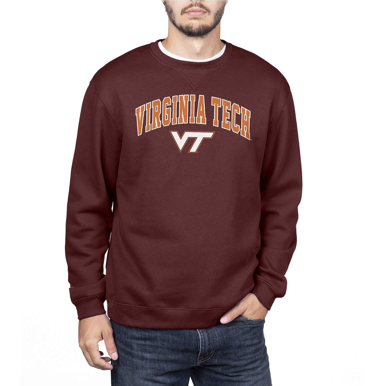 Maroon Large NCAA Virginia Tech Hokies Mens Team Color Crewneck Sweatshirt