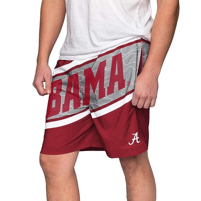 12025e8957 FOCO NCAA Alabama Crimson Tide Mens Big Wordmark Swim Suit TrunksBig  Wordmark Swim Suit Trunks,