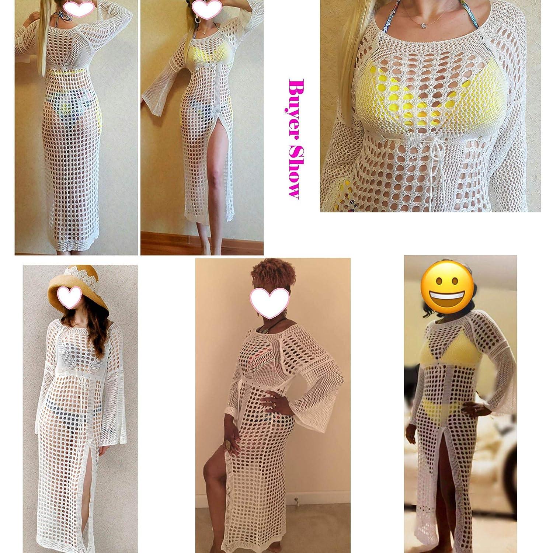 Amazon.com: Wawjir - Vestido de playa para mujer, manga ...