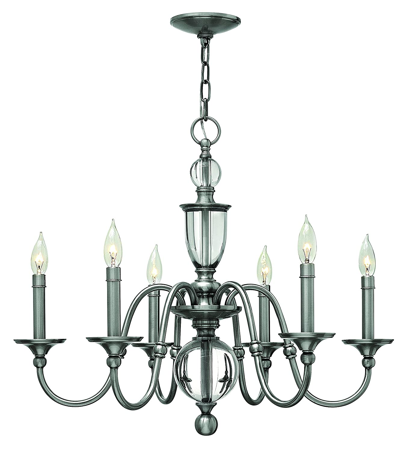 Hinkley 4956pl traditional six light chandelier from eleanor hinkley 4956pl traditional six light chandelier from eleanor collection in chrome pol ncklnish amazon arubaitofo Choice Image