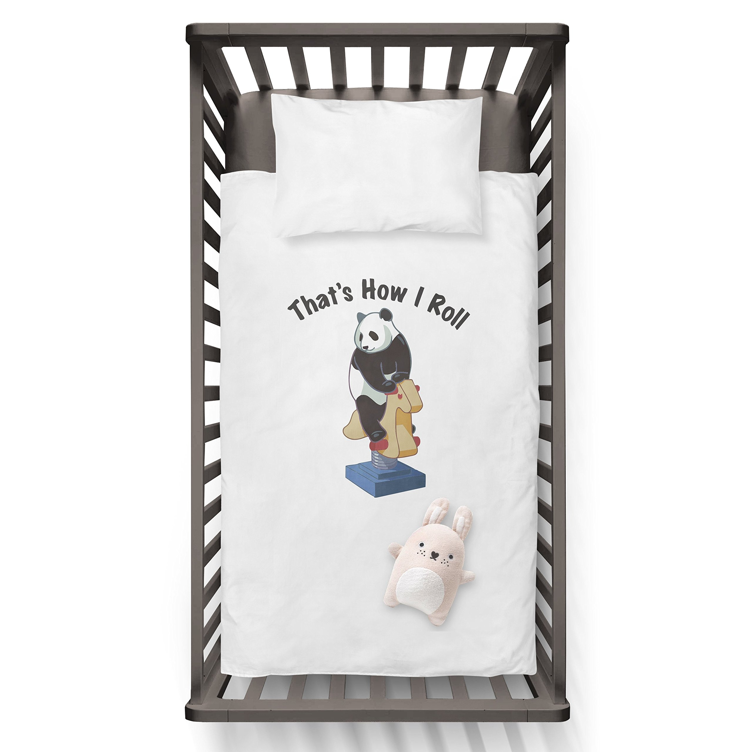 That's how i roll! Funny Humor Hip Baby Duvet /Pillow set,Toddler Duvet,Oeko-Tex,Personalized duvet and pillow,Oraganic,gift