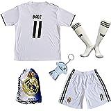8122cb6de GamesDur 2018 2019 Real Madrid Bale  11 Home Football Soccer Kids Jersey    Short