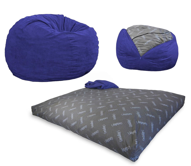 Amazon CordaRoy s Navy Blue Corduroy Convertible Bean Bag