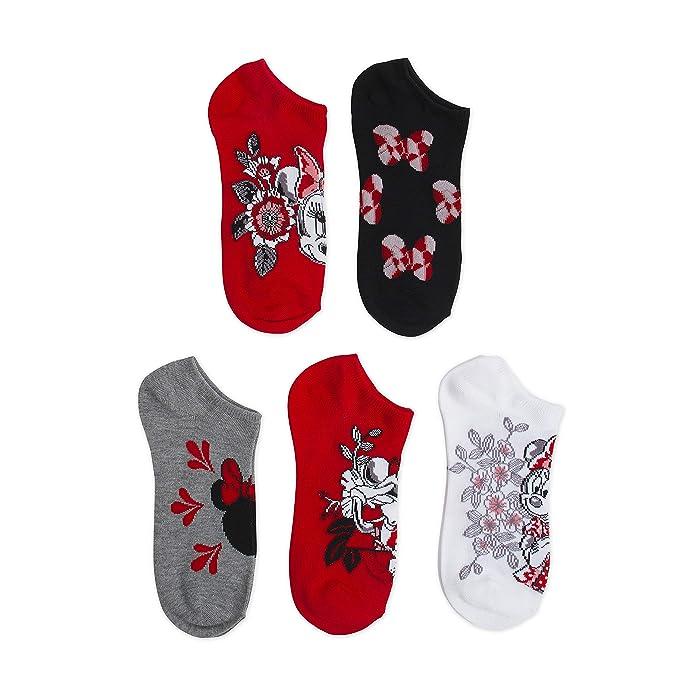 3870c4acd6b12 Disney Women's Classic 5-Pack No Show Socks