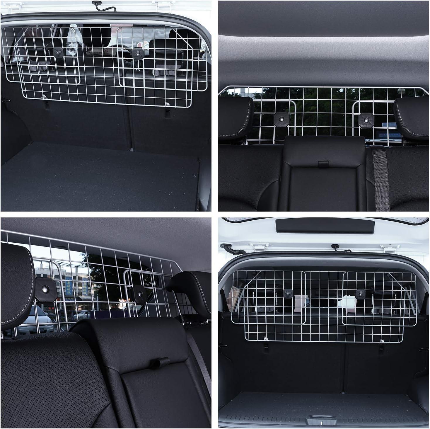 Kofferraum Trenngitter Universal f/ür Hunde Auto Hundegitter Zum Transport f/ür deinen Hund Schutzgitter mit Kopfst/ützen-Befestigung Hundegitter Auto Verstellbares Kofferraumschutz Gitter