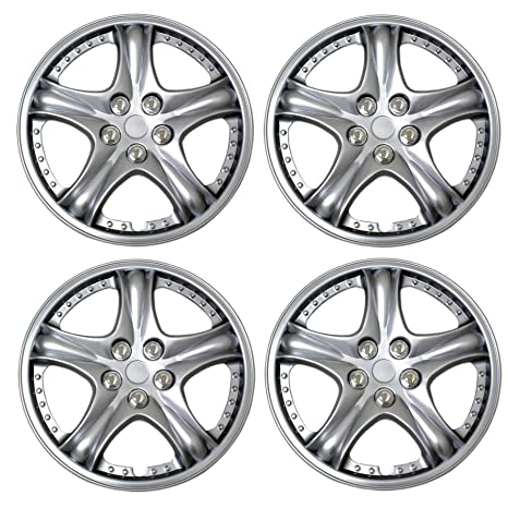 Amazon.com: Tuningpros WC3-14-5006-S - Pack of 4 Hubcaps - 14-Inches Style 5006 Snap-On (Pop-On) Type Metallic Silver Wheel Covers Hub-caps: Automotive
