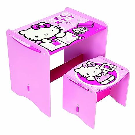 Tavolino Piu Hello Kitty.Worlds Apart 461hlk01em Hello Kitty Tavolino E Sgabello