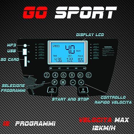GO SPORT - Alfombra eléctrica Plegable con Sensor cardíaco (500 W ...