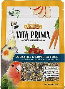 Sunseed Vita Prima Wholesome Nutrition Cockatiel & Lovebird Food, 3 LBS